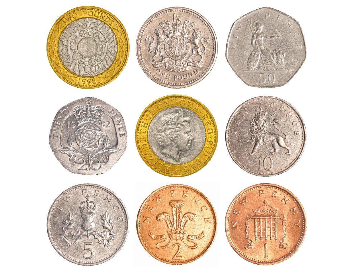 Britisches Pfund Münzen aktuell
